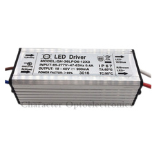 2pcs/lot 6-12x3W DC18-40V 900mA 220V LED Driver 18w 30w 36w Power Supply IP67 Waterproof Constant Current For FloodLight