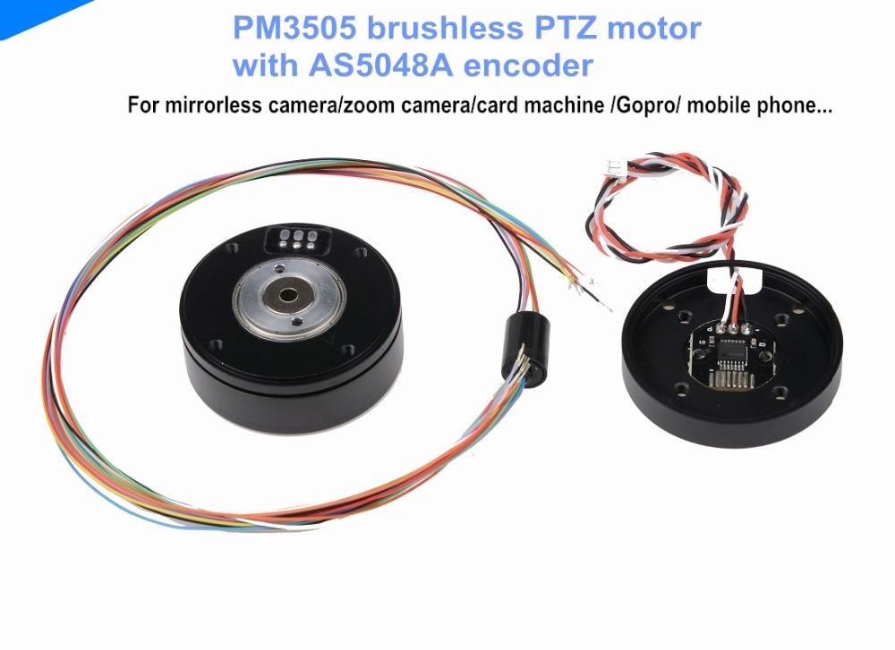 1 piece PM3505 brushless PTZ motor with AS5048A encoder mirrorless camera motor