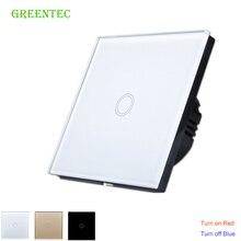 Сенсорный выключатель, ЕС стандартный сенсорный выключатель 1 класса 1 Черный сенсорный экран настенный выключатель, умный дом переключатель дистанционного управления