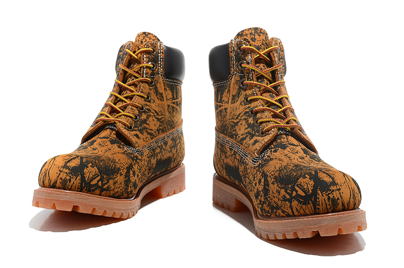 TIMBERLAND Animal Prints Camouflage Leopard Men Premium Ankle Martin Boots,Man Genuine Leather Timber Outdoor Casual Shoes 10082 3
