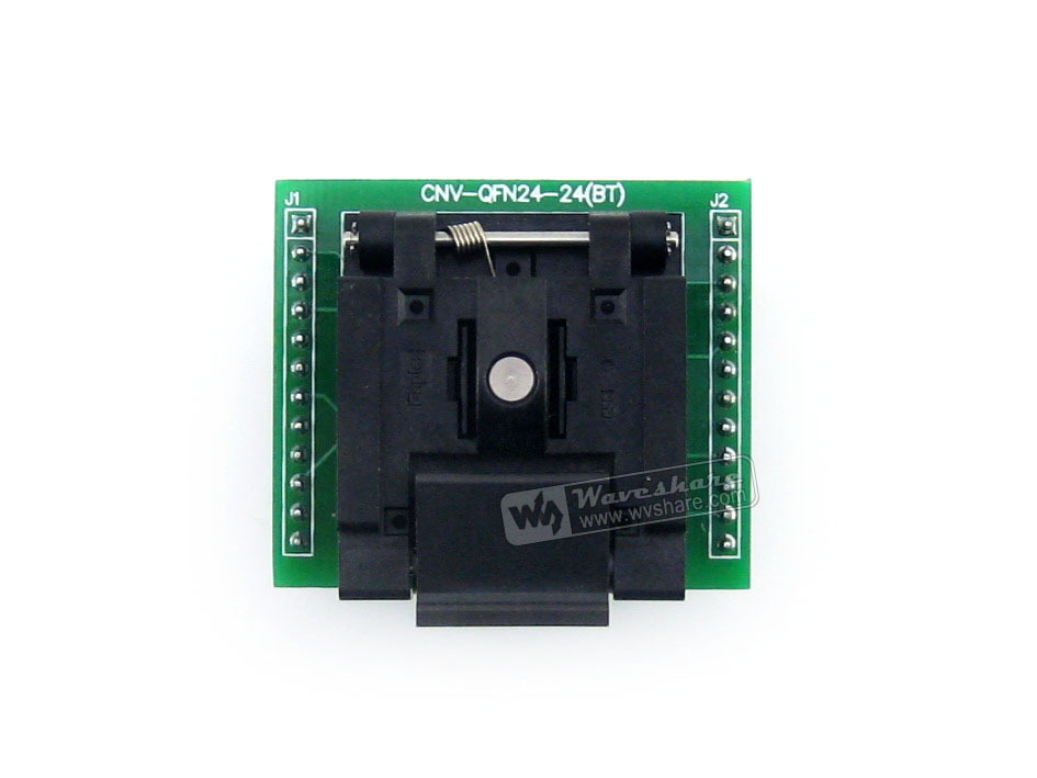 Waveshare QFN24 TO DIP24 (A) # Enplas QFN-24BT-0.5-01 IC Test Socket Adapter 0.5mm Pitch for QFN24 MLF24 MLP24 Package