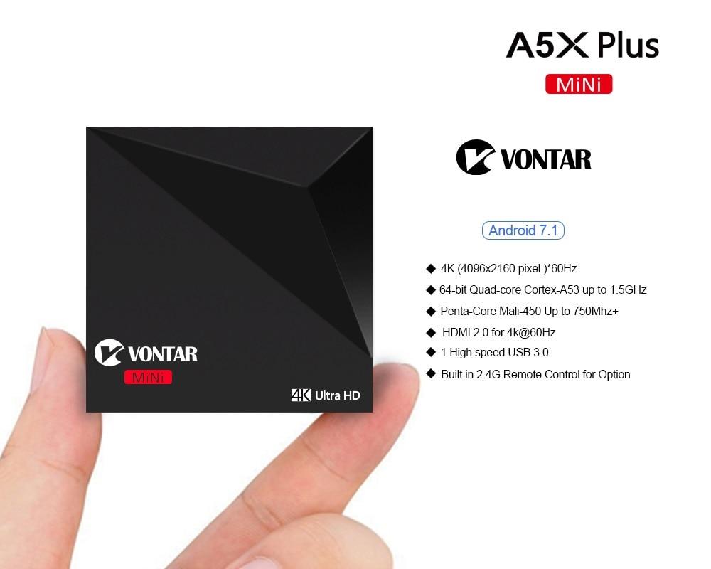 Mini Android 7.1 Nougat VONTAR A5X Plus RK3328 Rockchip TV BOX Mini Android 7.1 Nougat VONTAR A5X Plus RK3328 Rockchip TV BOX HTB1xyo6QXXXXXXBapXXq6xXFXXXc