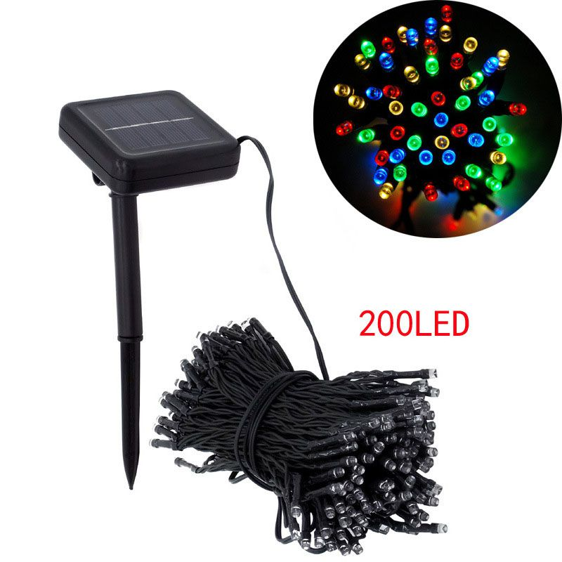AIMIHUO 200 LED solar light string Christmas lights series LED festival lights outdoor colored lights 5 colors 2 modes string 40 led grinding white ball christmastree string lights decorated colored lamp