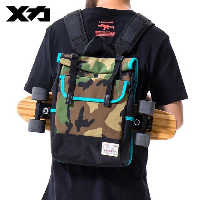 Mackar Skateboard Backpack Bags Waterproof Oxford Skate Backpacks Casual Street Skaters Carry Bag