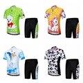 Летний детский комплект из Джерси для велоспорта  одежда для мальчиков и девочек  комплект из джерси и шорт для езды на велосипеде  детский к...