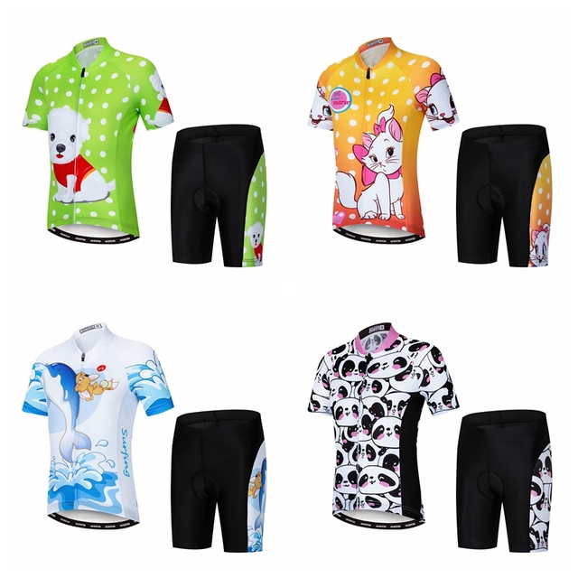 Summer Children Cycling Jersey Set Clothing Boys Girls Bike Jersey Pad  Shorts Sets Bicycle Ciclismo Kids MTB Riding Suits Dog 941d6d31d