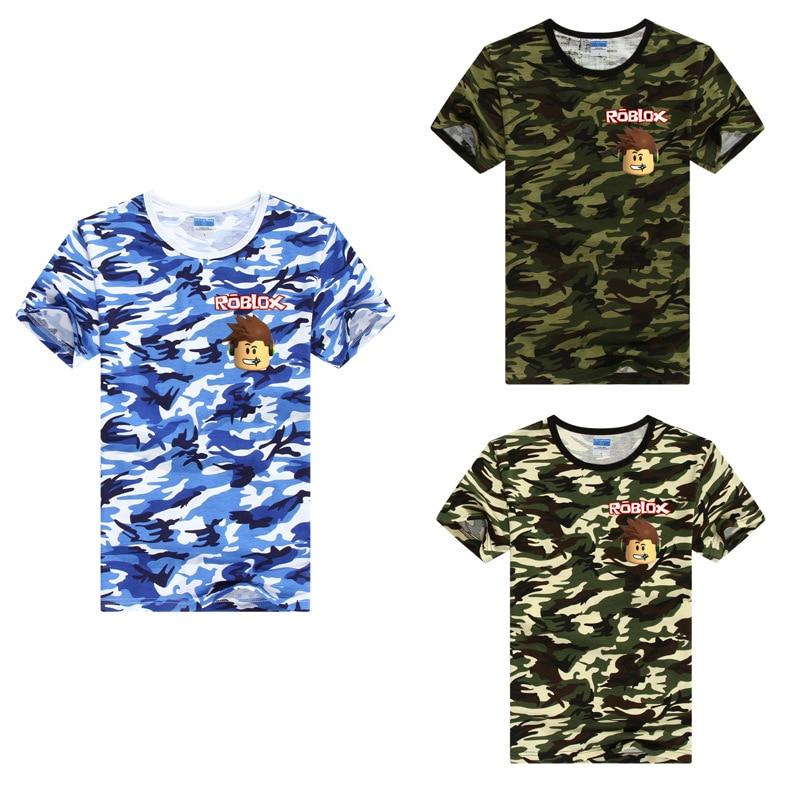 Bobo Choses Summer 2018 Roblox T Shirt Family Clothes Camouflage Shirt Summer Family Clothing Mere Fils Boys Clothes Boho Baby