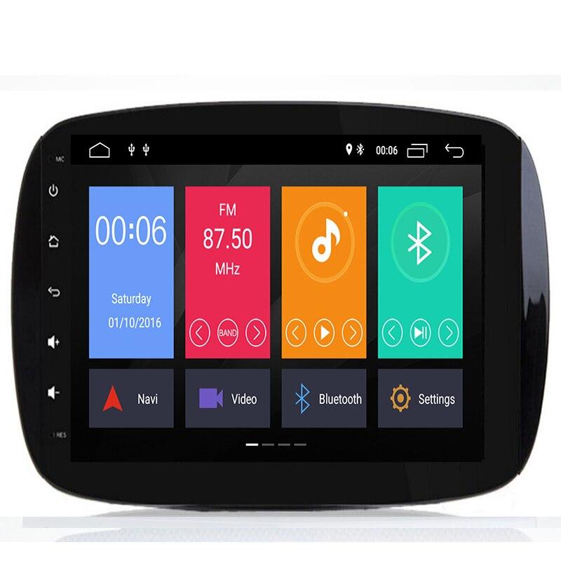 IPS 8 Core 9 4G RAM Android Car multimedia dvd Player GPS para Mercedes/Benz Smart Fortwo 2016 2017 2018 estéreo rádio do carro obd