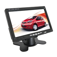 Black Color 7 inch TFT LCD Screen Car Rear View Monitor dual video inputs Stand Alone Monitor with remote controller SH708