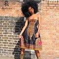 Одежда 2016 мода лето рукавов пояс Соболезновать Африке dress for women dashiki батик гольфы чистого хлопка плюс размер S-4XL