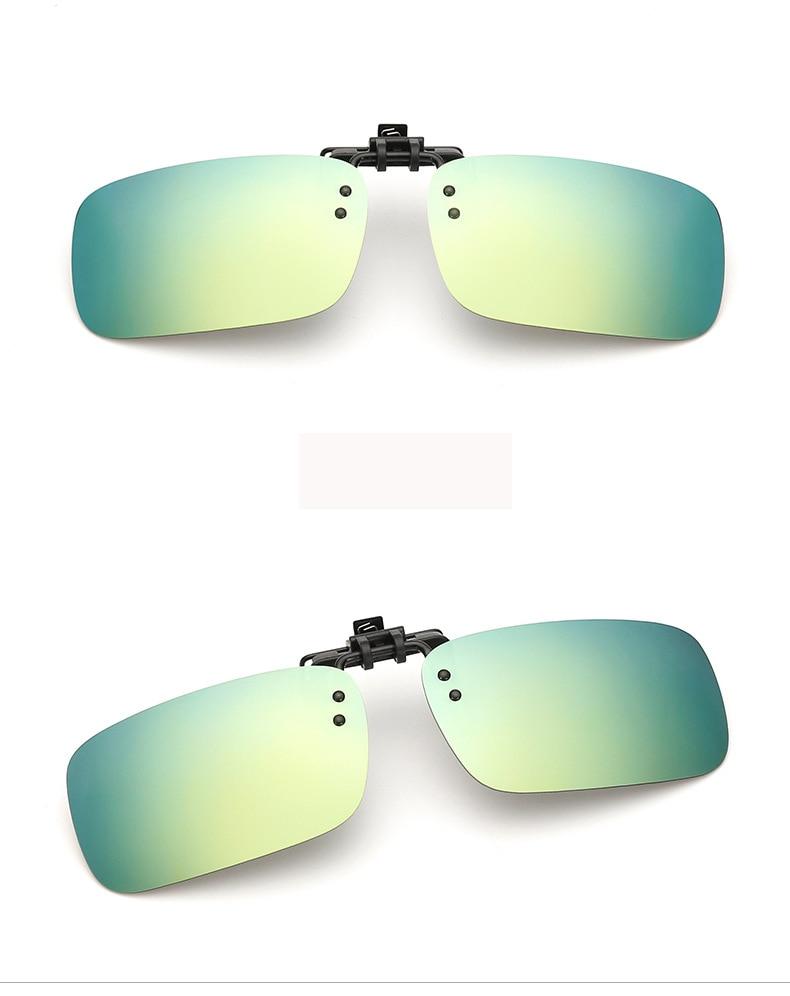1c9a3702b0 Pro Acme Unisex rectángulo polarizado Clip en gafas de sol hombres/mujeres  espejo revestimiento lente gafas de sol Clip para miope CC1059