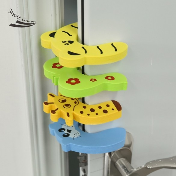 Hot sale 4pcs lot cute Pack Baby Safety Animal Door Stop Finger Pinch Guard