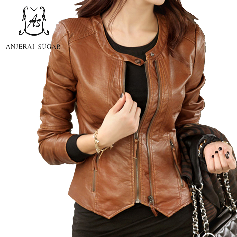 Spring and autumn short real leather jacket women sheepskin genuine leather motorcycle clothing female korea slim design Jacket
