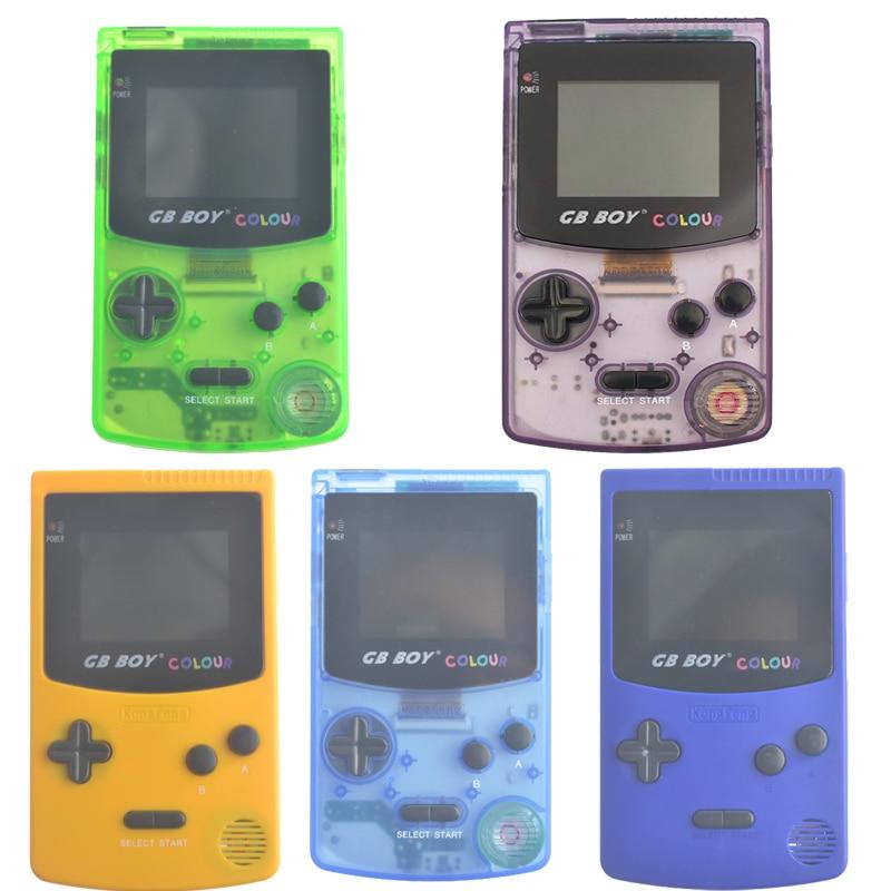 Kong Feng GB Garçon Classique Couleur Couleur De Poche consoles de jeux 2.7 ''Pocket Game Player Avec Rétro-Éclairé 66 Jeux intégrés Mando