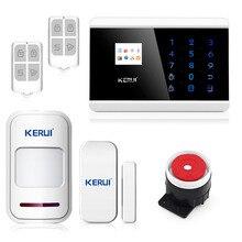 Бесплатная доставка KERUI России 433 МГц Беспроводной Домашний Офис домой сигнализация с проводной сирены