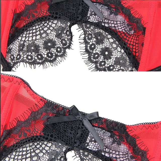 Black Red Underwear Plus Size Stocking Belt 10