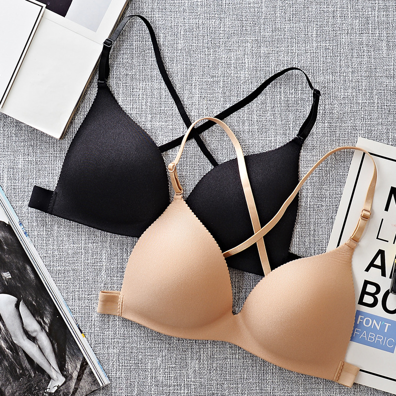 Fashion Sexy Bras Push Up Gather Bra For Girls Women Brassiere Wire Free Womens Seamless One Size Solid Colour Bralette Lingerie