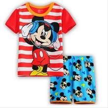 011f04ec3a052 Été 2018 enfants pyjamas ensembles coton bébé filles à manches courtes  vêtements de nuit de dessin animé enfants Pyjama Enfant g.