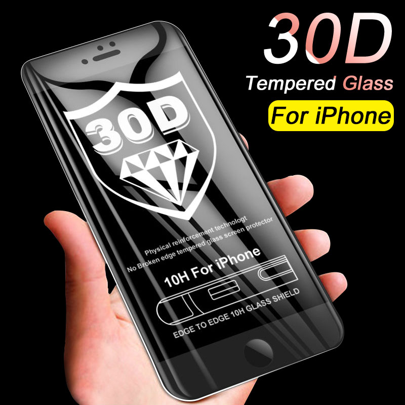 30D Curved Edge Protective Glass on the For iPhone 6 6S 7 8 Plus Tempered Screen Protector For iPhone X XS Max XR Glass Film30D Curved Edge Protective Glass on the For iPhone 6 6S 7 8 Plus Tempered Screen Protector For iPhone X XS Max XR Glass Film