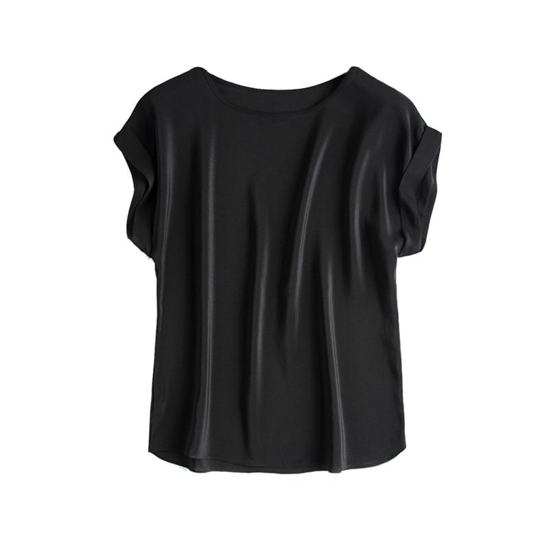 Këmisha me të vërtetë mëndafshi Veshja të shkurtra me mëngë - Veshje për femra - Foto 4