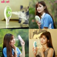 2 In 1 Mini Handheld USB Rechargeable Fan Spray Humidifier Air Conditioning Cooling Fan For Indoor