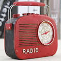 "NEO 5.5 ""Ретро Смолы Радио Статуэтка Vintage Радиограмму Ремесло Бар Кафе Декоративные Статуи Скульптуры"
