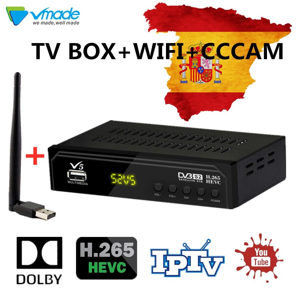 Full Hd DVB S2 V5 Satellite TV Receiver HD+USB WIFI DVB-S/S2 Satellite Receptor+2 Year's Europe Cccam Free Satellite TV Decoder
