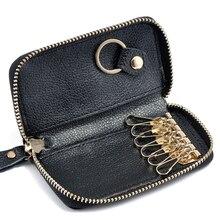 Fashion Vintage Genuine Leather font b Wallet b font Men font b Key b font Holder