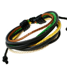 Kirykle Hot sell 100% hand-woven Fashion Jewelry Wrap multilayer Leather Braided Rope Wristband men bracelets bangles for wome