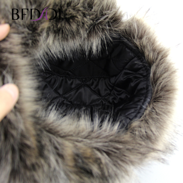 BFDADI Bomber Hats faux fur Ear Flaps Cap Russian Hat Winter Earflap Keep Warm Snow Caps 59-60cm
