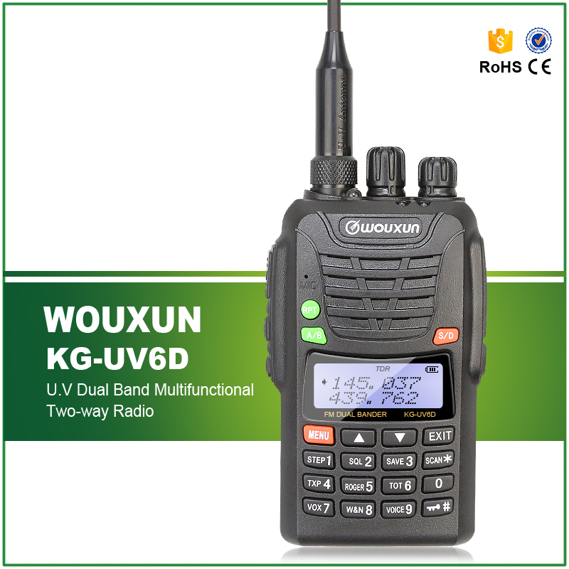 Free Shipping IP-55 Waterproof KG-UV6D WOUXUN Dual Band Handheld FM Transceiver