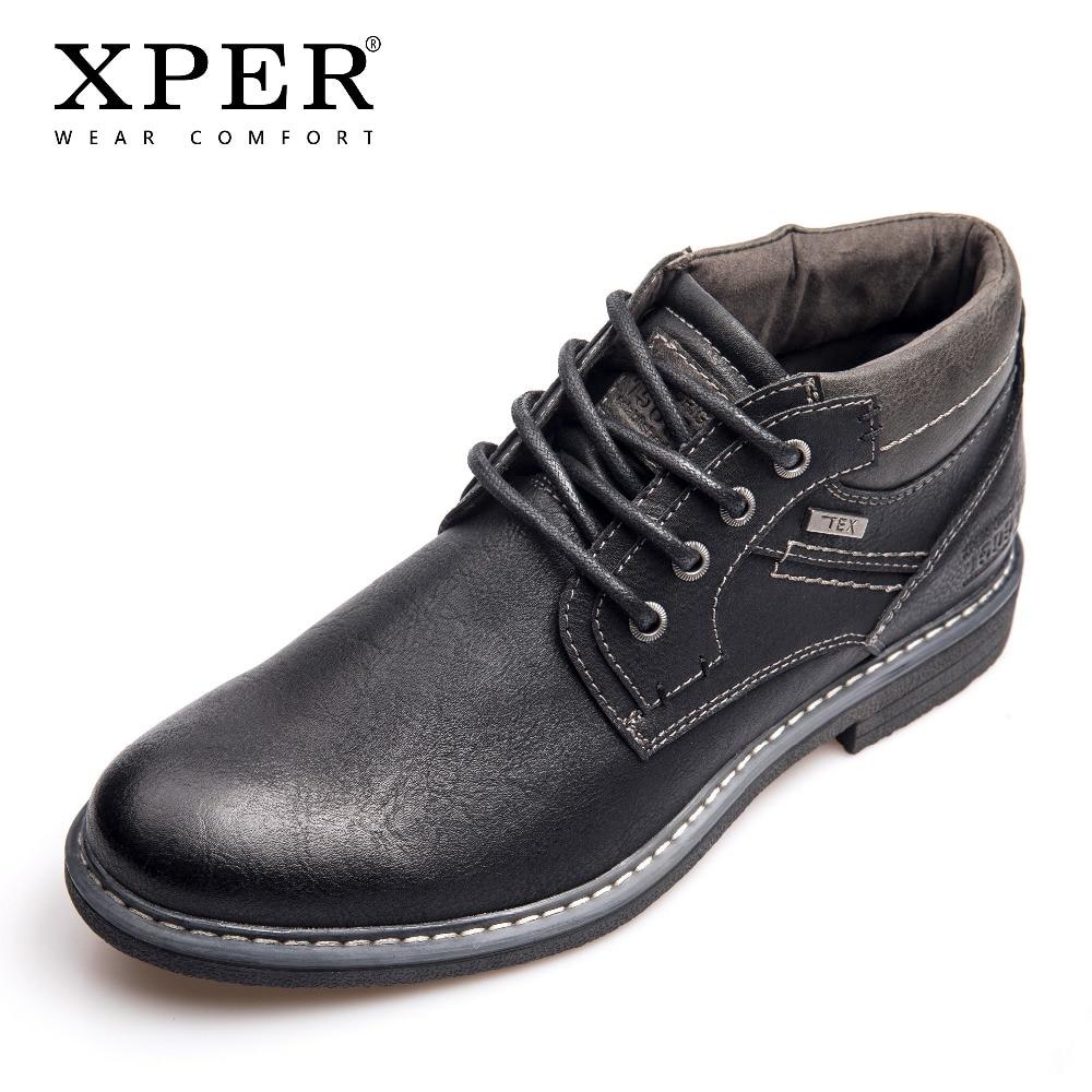 Xhy12603bl Grande 46 Tex Marque Cheville Chaude Mode Chaussures Bottes Taille 40 Travail D'affaires Xper Mâle Étanche Hommes Shoes Black Noir Pluie UPwq66x