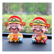 Car decoration creative small wealth God shaking his head cute car interior