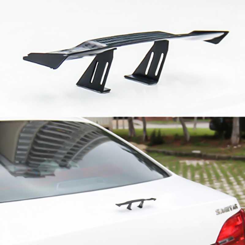 17 センチメートルモデル炭素繊維ツイル外観gt小型ミニレーシングリアsmall wingスポイラー装飾