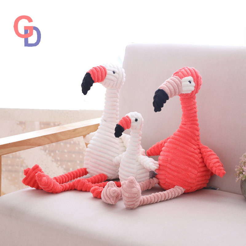 30cm corduroy plush flamingo Toy stuffed Animal soft baby cuddly pink & white flamingo dolls Toys for children kids appease toy flamingo plush toy pillow pink flamingo cushion baby girl princess room decoration kids doll girls gift home decorate