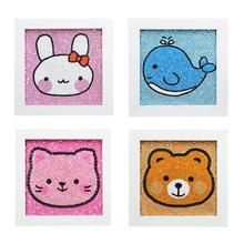 Kinder DIY Diamant Malerei Cartoon Bohrer Stickerei Licht Kreuz StitchHandmade Werkzeuge Nette Mini Handwerk Kinder Spielzeug Geschenk