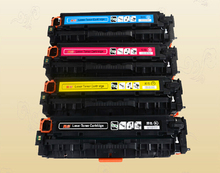 Hisaint for HP CE320A CE321A CE322A CE323A Compatible Color Toner Cartridge For HP Color laserjet CP1525N