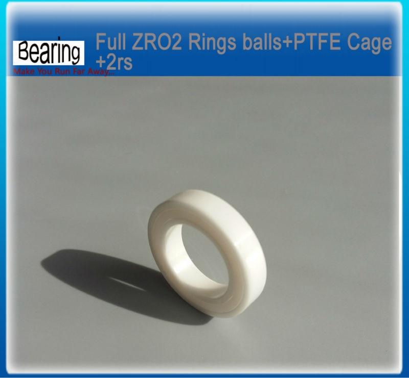 Double seals ZRO2 full Ceramic bearing 6002-2rs 15x32x9mm ceramic bike repair bearing 1 piece ceramic 2 piece stacking