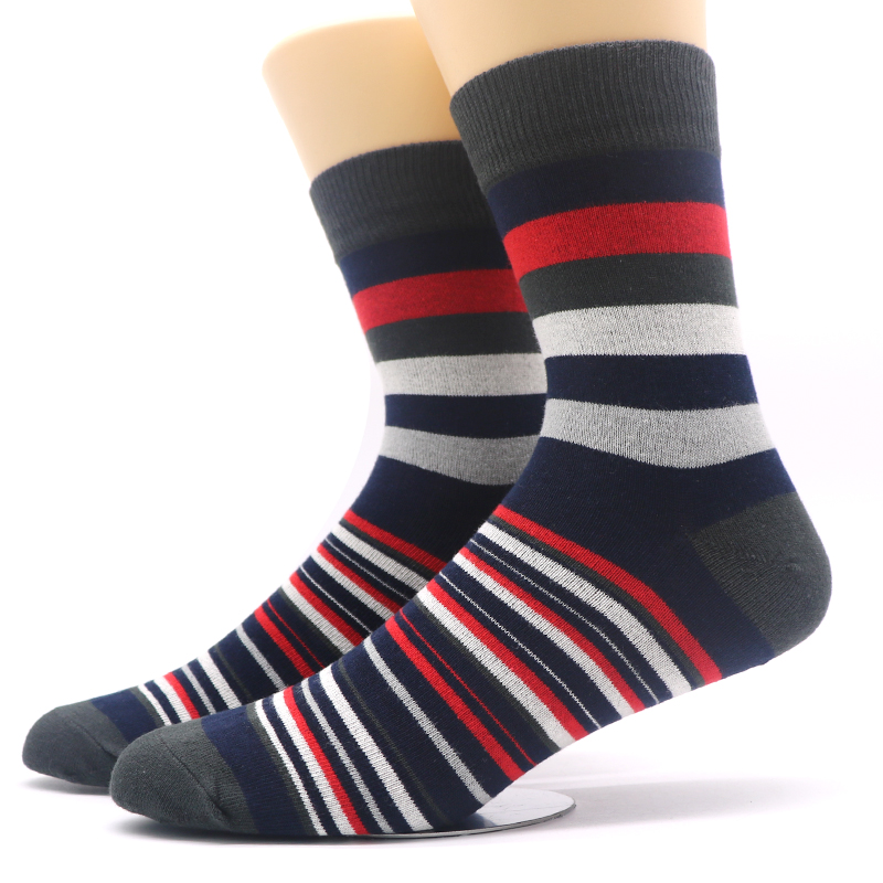 1Pairs Mens Socks Chaussette Striped Print Male Long Socks Long Mens Business Mens Dress Sock Meias Homens Calcetines Hombre