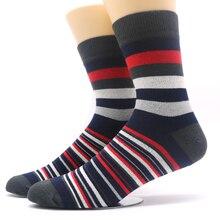 1Pairs Men s Socks Chaussette Striped Print Male Long Socks Long Men s Business Mens Dress