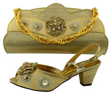 Latest high quality african sandals and handbag italian matching shoes and bags set for woman 1702g2320d30-1