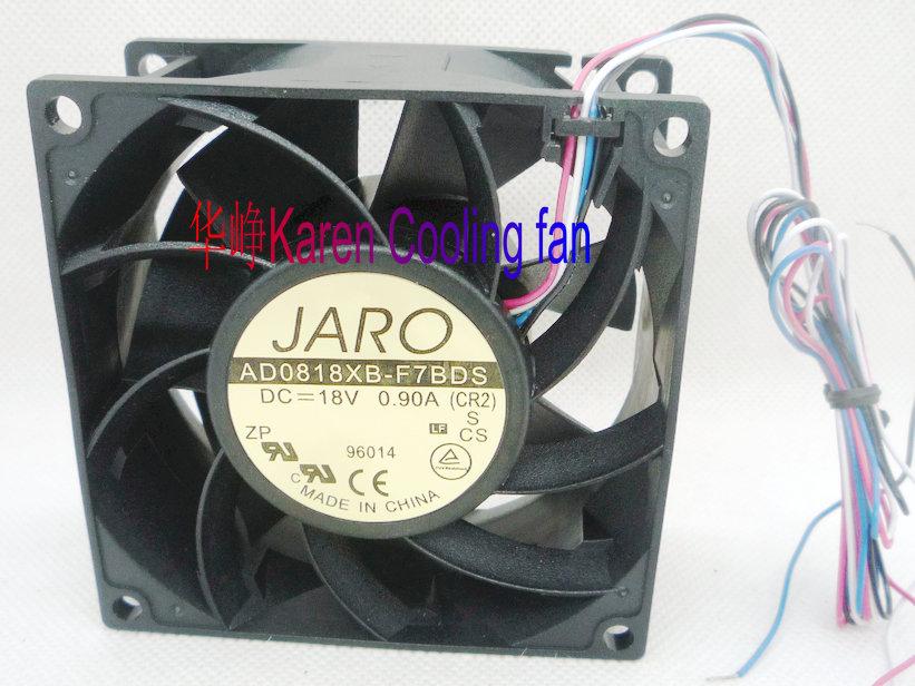 New original ADDA AD0818XB-F7BDS 80*80*38MM 18V 0.9A 4wires Cooling fan