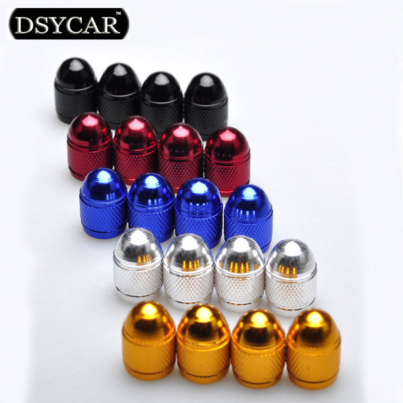 DSYCAR 4Pcs Lot Bike Motorcycle Car Tires Valve Stem Caps Dustproof Cover for BMW lada Honda Ford Toyota Car Styling Accessories