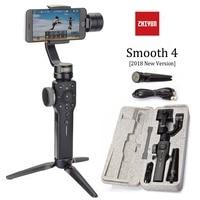 Zhiyun Smooth 4 stabilizzatore cardanico palmare a 3 assi con messa a fuoco Pull & Zoom per iphone Xs Max Xr X 8 Plus 7 6 SE