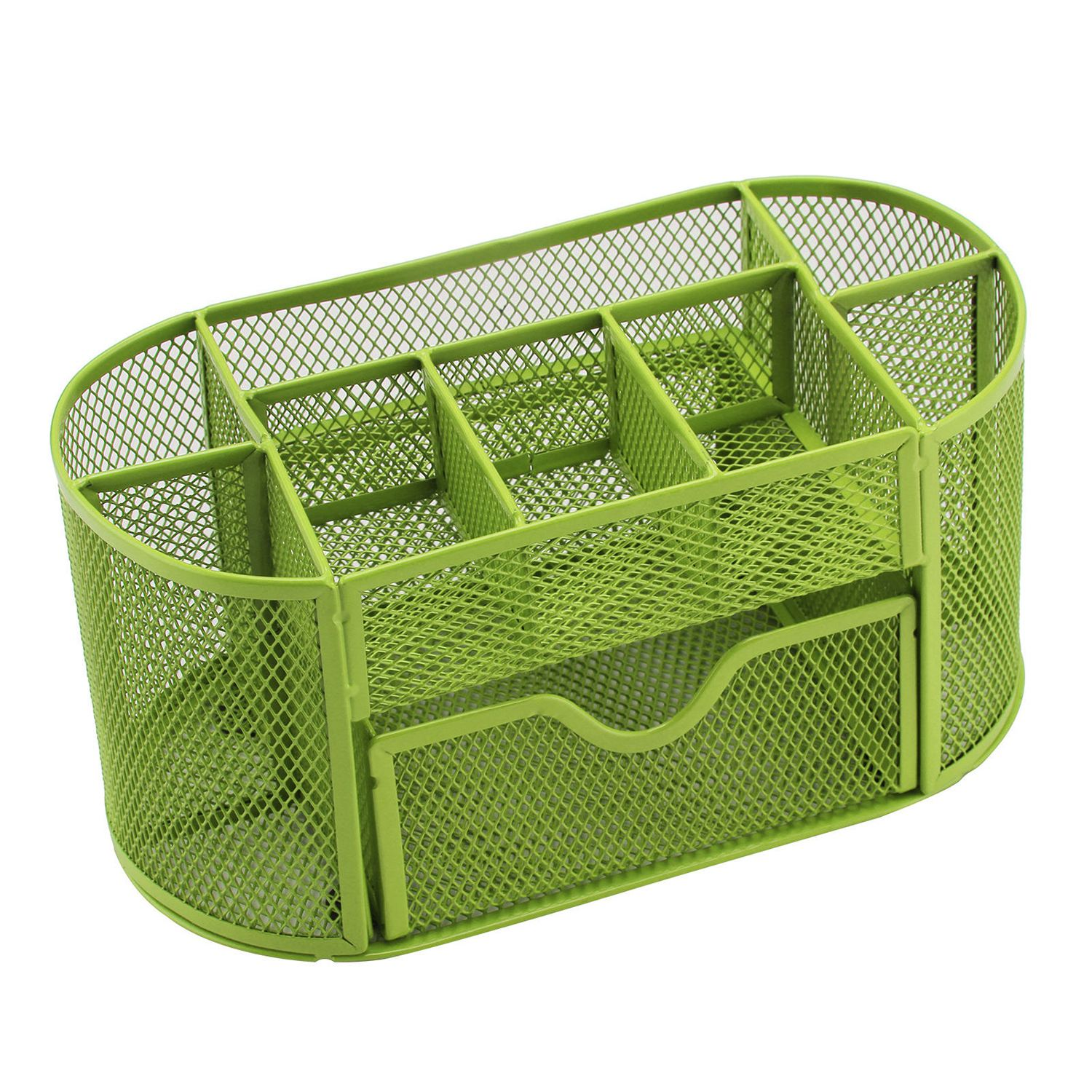 Pen Pencils Mesh Holder Stationery Container Desk Tidy Organiser Office School, Green