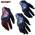 SUOMY spring Summer full finger motorcycle gloves can touch seasons riding off-road biker glove drop resistance AXE style