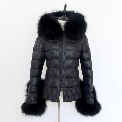 Capot Noir Chaqueta Femmes Court Fourrure Manches Mince Vers De Le St074 Femme Laveur Flare D'hiver Mujer Bas Veste Ayunsue Réel Raton Femelle Manteau Doudoune gPvqw5x