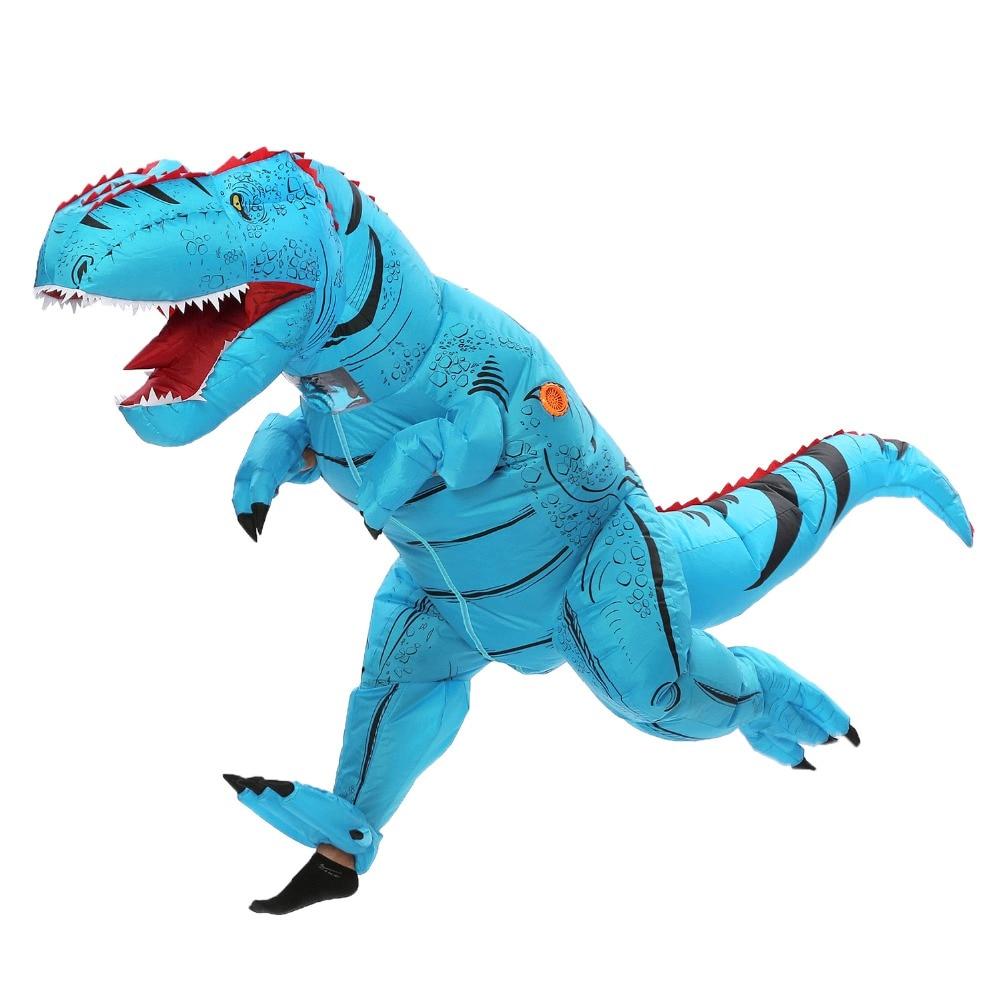 Adult T rex inflatable Dinosaur Costume for Women Men Animal Cosplay Halloween Party Dinosaur Fantasia clothing