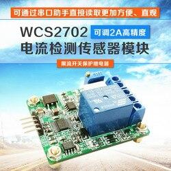 WCS2702 wysoce precyzyjny moduł czujnika wykrywania prądu AC/DC 2A ogranicznik prądu przekaźnik szeregowy