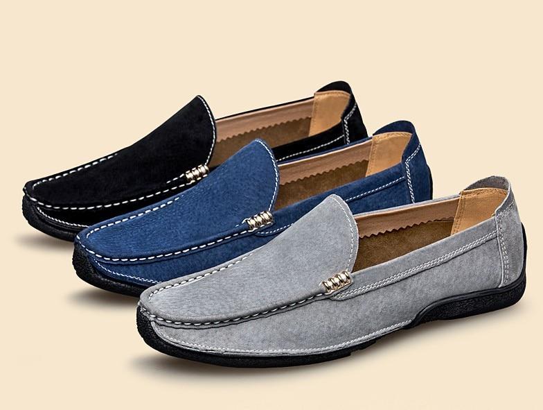 on Mode Hombre Slip Nouvelle black Hommes Chaussures Véritable Mocassins Main Conduite Blue Cyabmoz gray En Appartements Zapatos Marque Cuir De Occasionnels tBrCxhdsQ